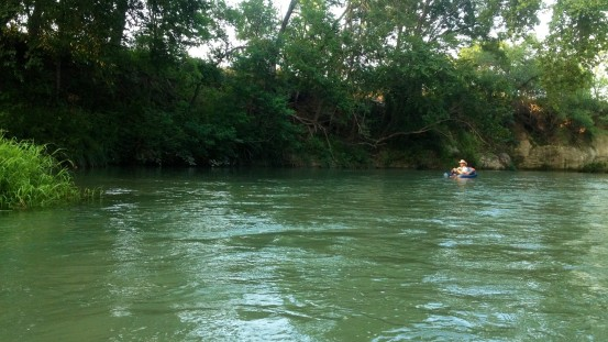 Floating the San Marcos River with Mike